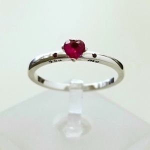 Sterling You & Me ❤️ Ruby Ring